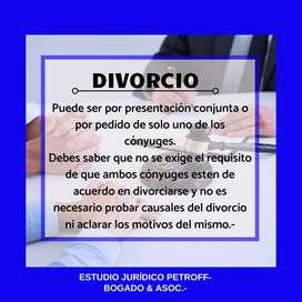 DIVORCIOS - ESTUDIO JURÍDICO