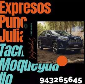 Expresos (Moquegua, Arequipa, Tacna, Ilo, Juliaca y Puno)