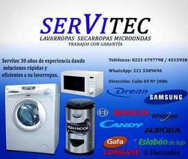 Service de lavarropas secarropas y microondas