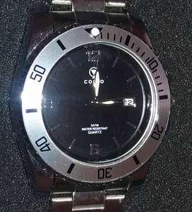 Reloj Pulsera Analogo Hombre Acero Inoxidable Secundero central.
