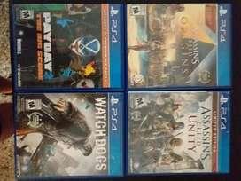 Vendo juegos de PS4 en exelente estado