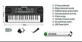 Piano Organeta Teclado 37 Teclas Electrónico Usb +micrófono