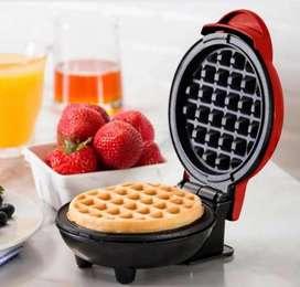 Mini wafflera eléctrica