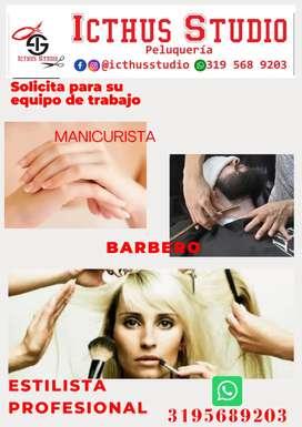 Solicito Manicurista, barbero y estilista