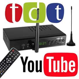 TDT DECODIFICADOR TV DIGITAL + WIFI YOUTUBE