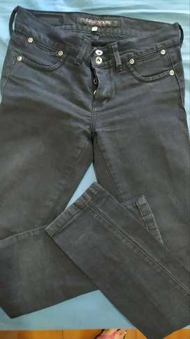 Jeans Negro maycla excelente calse talle 25