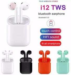 Auriculares estéreo inalámbricos Bluetooth i12 TWS In-Ear Auriculares/Auriculares-Caja de carga