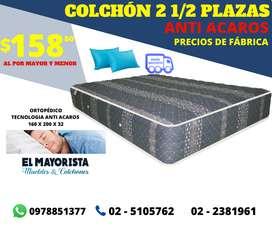 Oferta En  COLCHÓN DOS Y MEDIA Plazas + 2 almohadas POR TAN SOLO 158 USD