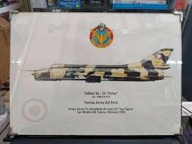 39 X 28 Pintura Avion Sukhoi 22 Fitter Peru Mig Auto Tanque