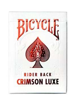Cartas Baraja Original Bicycle Crimson Luxe Rojo, Importado por Banimported