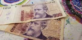 Billetes $100 julio argentino roca