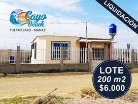 LOTES PLAYEROS EN LIQUIDACION, CAYO BEACH, LOTES DE 180M2 A 5.130 USD, PLAYA DE PUERTO CAYO MANABIS1