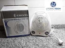 Caloventor CRIVEL. 2 niveles. Con termostato.