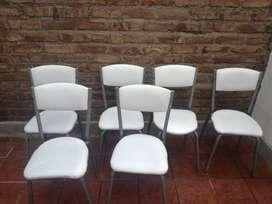 Vendo hermosas sillas de cuero a usadas