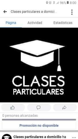 Clases particulares. Aprendizaje y Materias  previas.