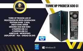 TORRE CORPORATIVA HP PRODESK 600 G1 PENTIUM SEXTA GENERACION