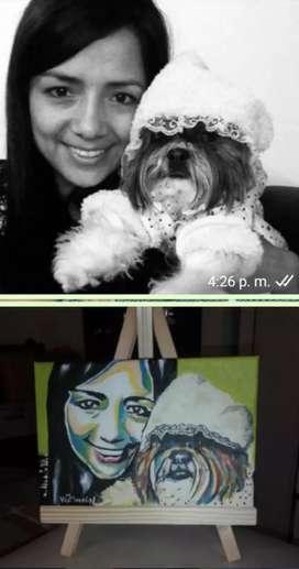 Hacemos tus cuadros con tu mascota