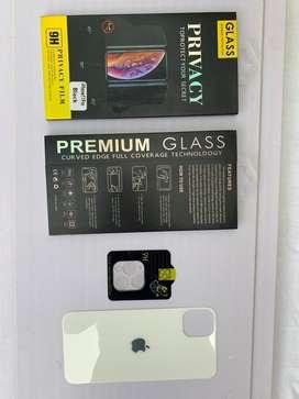 Kit vidrio templado  3d antyspia iphone 11 pro y Max