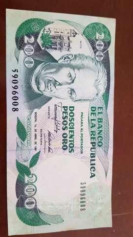200 PESOS ORO DE COLOMBIA DE 1991