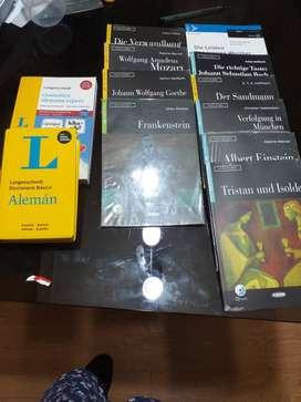 libros de alemán graded readers nuevos + d200iccionario + libro de gramática alemana