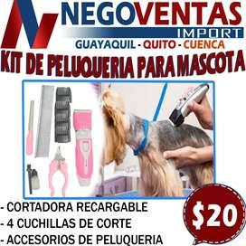 Maquina para cortar pelo de mascotas kit completo de peluquería