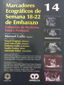 Venta de libro de Marcadores ecograficos de semana 18-22 de Embarazo