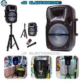 Parlante Trípode Led Portátil Bd 200Wts Capacidad 2400mAh Rango 8hrs Karaoke-Micrófono Radio Fm/Usb/Sd/Btooth DC 5V