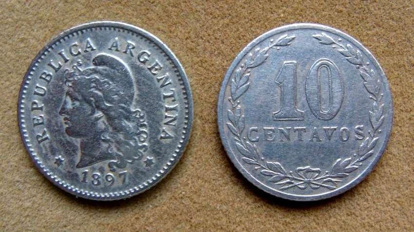 Moneda de 10 centavos Argentina año 1897 0