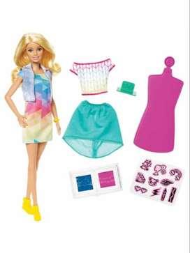 Barbie Crayola Conjunto De Moda Color Stamp Fashions