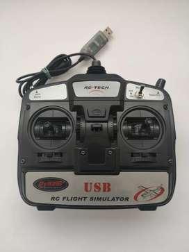 Radio control Dynam 6 CH (canales) USB RC Simulador de vuelo .