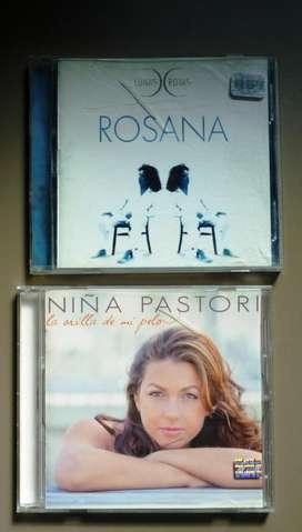LOTE CD X 2 NIÑA PASTORI Y ROSANA (LUNAS ROTAS)