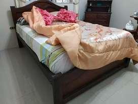 Se vende cama de dos plazas (base y colchón)