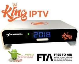 Azamerica King IPTV TV Box Smart 4K UHD Mini PC Android Wifi