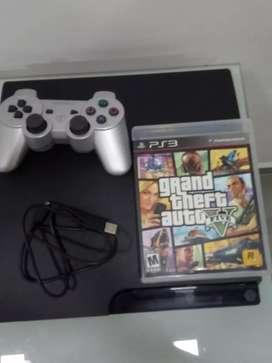 PS3 slime con control y película GTA5 física original