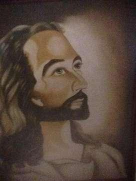 Oleo sobre Lienzo Rostro Jesus Barato