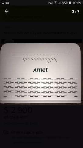 Vendo modem wifi para arnet o Fibertel nuevo en caja se va x $2000