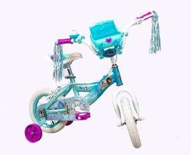 Bicicleta Niña Rin 12 Pulgadas Disney Frozen