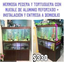 PECERA Y TORTUGUERA con Mueble $330