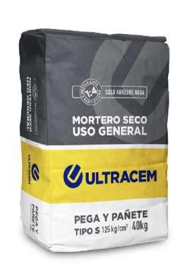 Mortero Seco Uso General  Tipo S  40 kilos ULTRACEM
