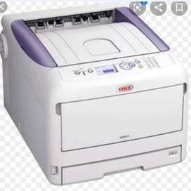 Vendo combo impresora oki led + plancha