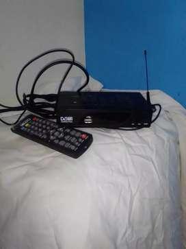 Dvt12t decodificador para tv con su control