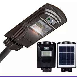 Lampara Para Exterior Solar Led De 30w Con Sensor De Luz