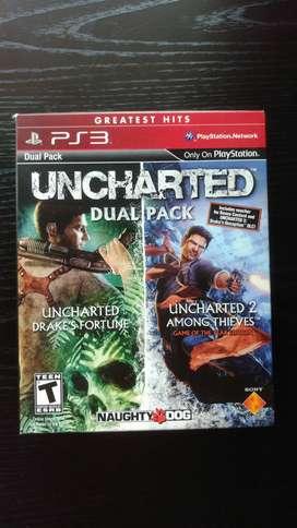 UNCHARTED 1 Y 2 PACK PS3 FISICO USADO