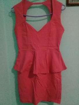 Vestido Elastisado Color chicle