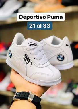 Zapato Tennis Deportivo Puma BMW Niños Unisex