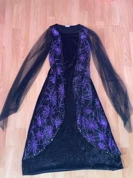 Disfraz  vestido de vampiro para niña