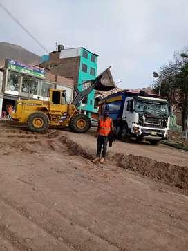 Alquiler de retroexcavadora demoliciones excavaciones eliminación de desmonte bobcat rodillo volquetes afirmado relleno