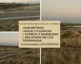VENDO LOTE ZONA EL CHALLAO!! EXCELENTE UBICACION!!