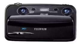 Camara fujifilm 3d hd con todos sus accesorios