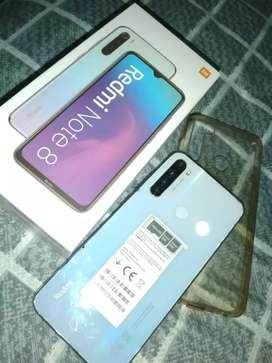 Xiaomi Redmi note 8, Como nuevo con todos sus acessorios